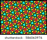 a hand drawing pattern made of... | Shutterstock . vector #586063976