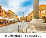 the main square in ravenna in...   Shutterstock . vector #586065530