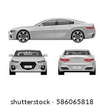 modern car vector templates set.... | Shutterstock .eps vector #586065818