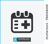 medical appointment icon.... | Shutterstock .eps vector #586068668