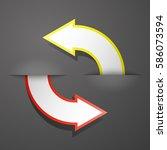 vector round arrow banners set. ... | Shutterstock .eps vector #586073594