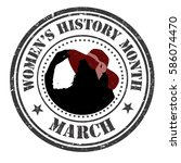 women's history month grunge...   Shutterstock .eps vector #586074470