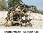 members of us army rangers...   Shutterstock . vector #586085738