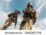 us army rangers pointing... | Shutterstock . vector #586085798