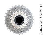 bike cassette  11 speed. carbon ... | Shutterstock . vector #586090103