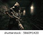 nuclear post apocalypse....   Shutterstock . vector #586091420