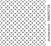vector seamless pattern  black  ...   Shutterstock .eps vector #586092728