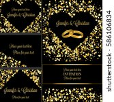 luxury wedding invitation and... | Shutterstock .eps vector #586106834