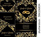luxury wedding invitation and... | Shutterstock .eps vector #586106834