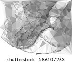 abstract monochrome mosaic... | Shutterstock . vector #586107263