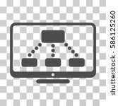 hierarchy monitor vector... | Shutterstock .eps vector #586125260