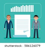 concept flat vector business... | Shutterstock .eps vector #586126079
