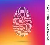 fingerprint scan icon | Shutterstock .eps vector #586126259