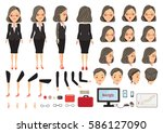 businesswoman character... | Shutterstock .eps vector #586127090