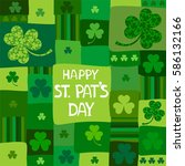 st. patrick's day background in ... | Shutterstock .eps vector #586132166