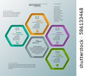 vector abstract 3d paper... | Shutterstock .eps vector #586133468