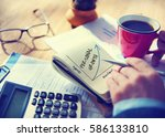 value personal development... | Shutterstock . vector #586133810