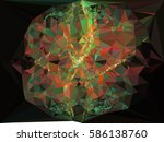 abstract multicolor mosaic... | Shutterstock .eps vector #586138760