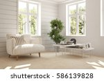 white room with armchair and... | Shutterstock . vector #586139828