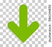 arrow down vector pictograph.... | Shutterstock .eps vector #586144850