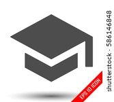 simple flat logo of graduation... | Shutterstock .eps vector #586146848