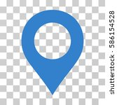 map marker vector pictograph.... | Shutterstock .eps vector #586154528
