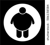 fat people icon   Shutterstock .eps vector #586158584