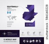 guatemala map vector | Shutterstock .eps vector #586160228