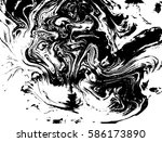 black and white liquid texture  ... | Shutterstock .eps vector #586173890