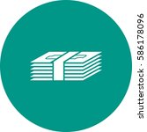 pack of bills | Shutterstock .eps vector #586178096