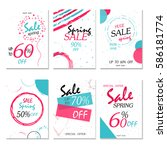 geometrical social media sale... | Shutterstock .eps vector #586181774