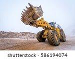 big front loader | Shutterstock . vector #586194074