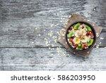 Bowl Of Homemade Fruit Oatmeal...