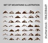 set of mountains illustration. | Shutterstock .eps vector #586208669