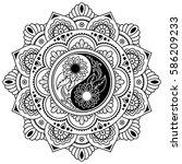 circular pattern in form of... | Shutterstock .eps vector #586209233