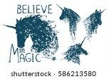 believe in magic. cute... | Shutterstock .eps vector #586213580