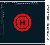 helicopter landing pad.   Shutterstock .eps vector #586216526