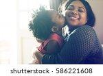 african descent family house... | Shutterstock . vector #586221608