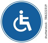 wc toilet disabled accessible... | Shutterstock .eps vector #586222319