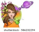 rectangular background with... | Shutterstock .eps vector #586232294