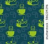 pattern. background texture.... | Shutterstock .eps vector #586239296