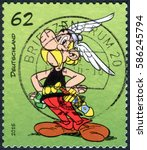 germany   circa 2015  a stamp...   Shutterstock . vector #586245794