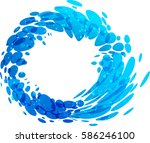 aqua circle splash element