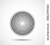 abstract dotted circles. dots... | Shutterstock .eps vector #586249460