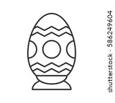 easter egg linear icon. thin... | Shutterstock .eps vector #586249604