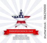 independence day 4th july with...   Shutterstock .eps vector #586250000