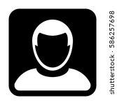 man user icon   person profile... | Shutterstock .eps vector #586257698