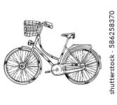 vector bicycle with cart | Shutterstock .eps vector #586258370