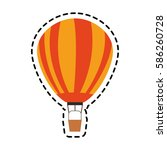 hot air balloon icon image  | Shutterstock .eps vector #586260728