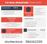 set of 6 flat and modern e mail ... | Shutterstock .eps vector #586262330